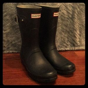 Hunter- Women's Original Short Rain Boots- Navy